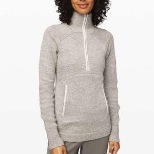 Lululemon Summit Stride Grey Zip Up Sweater XS